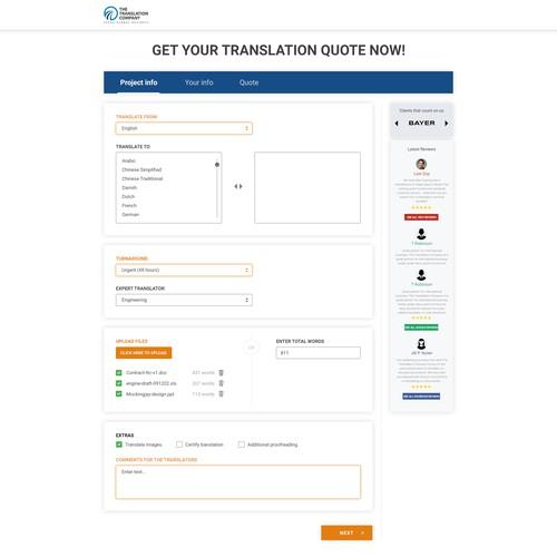 Order form for TTC
