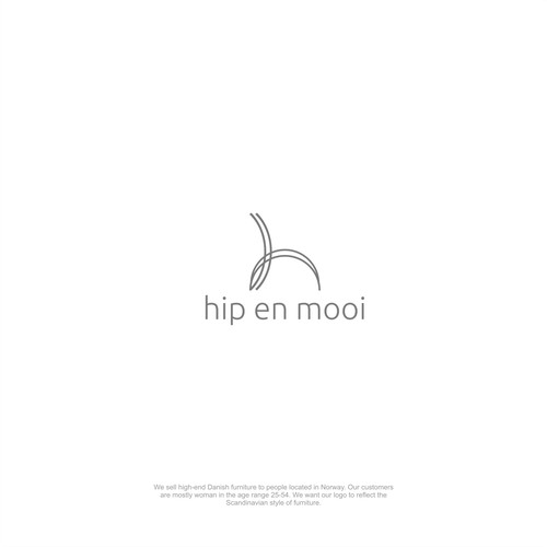 hip en mooi logo design