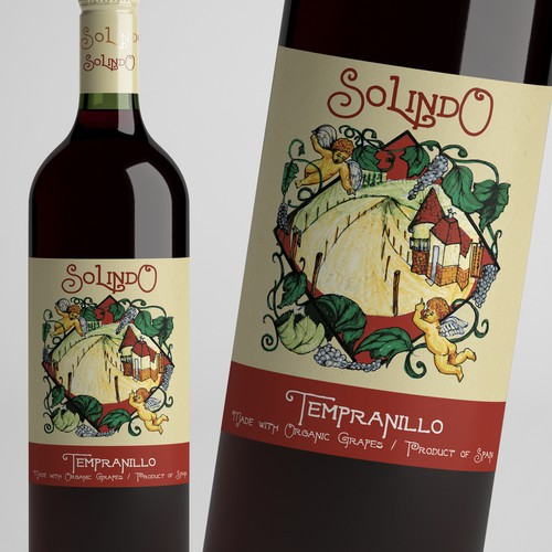 wine label, original drawing
