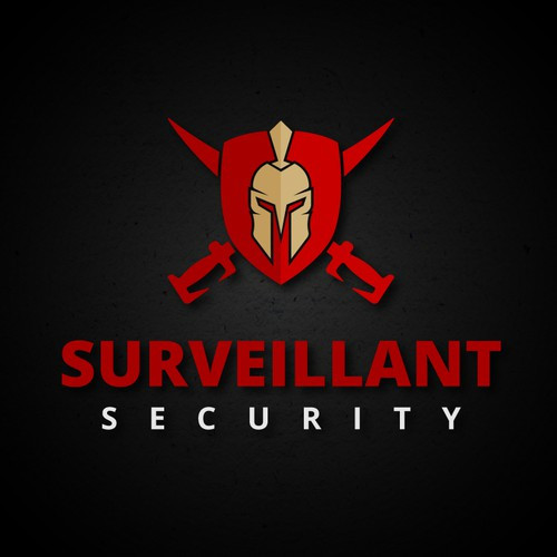 "Bold logo for ""SURVEILLANT SECURITY""."