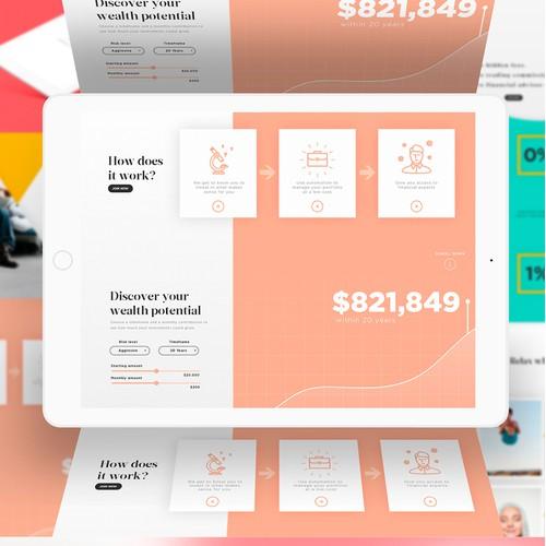 Landing Page design for Sarwa Bank