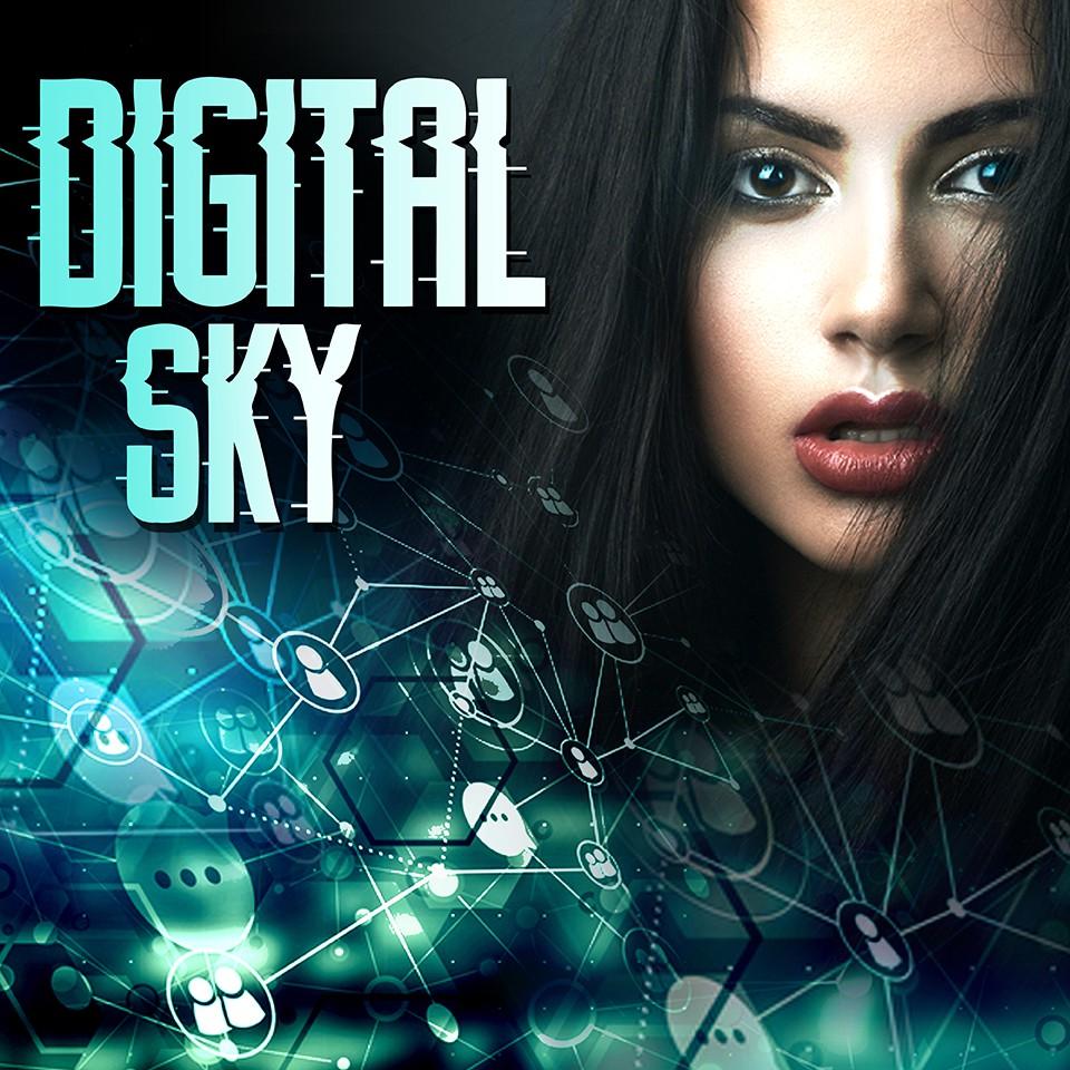 """""""Digital Sky"""" : Banding for Podcast thumbnail/poster"""