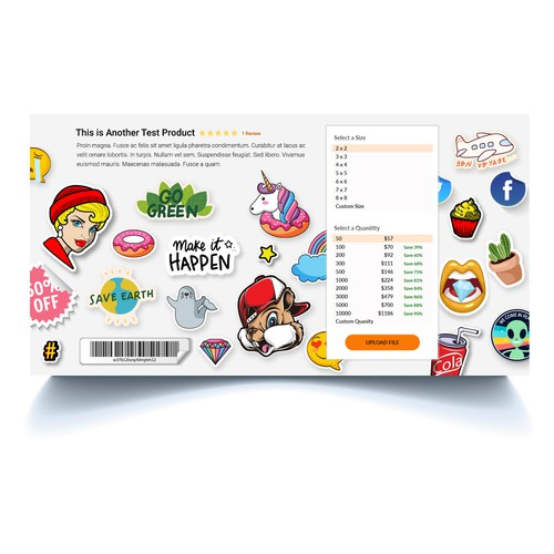 Sticker Company Product page header/backdrop image