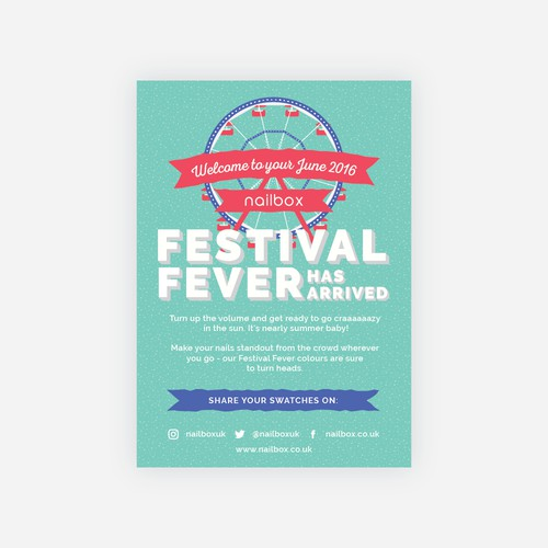 Festival themed postcard design