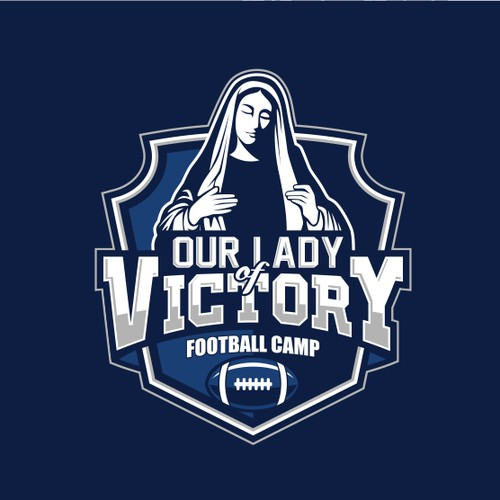 Bold logo for a Catholic Football Camp
