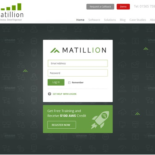 Login page for Matillion ETL for Redshift.