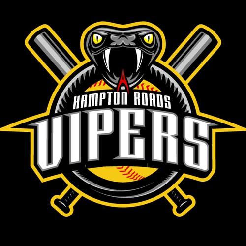 Hampton Roads Vipers Logo Design