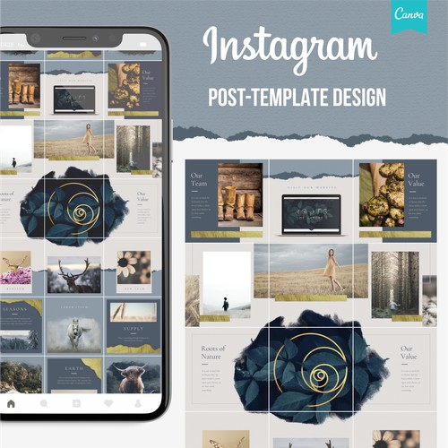 Roots of Nature Instagram Post Template Design