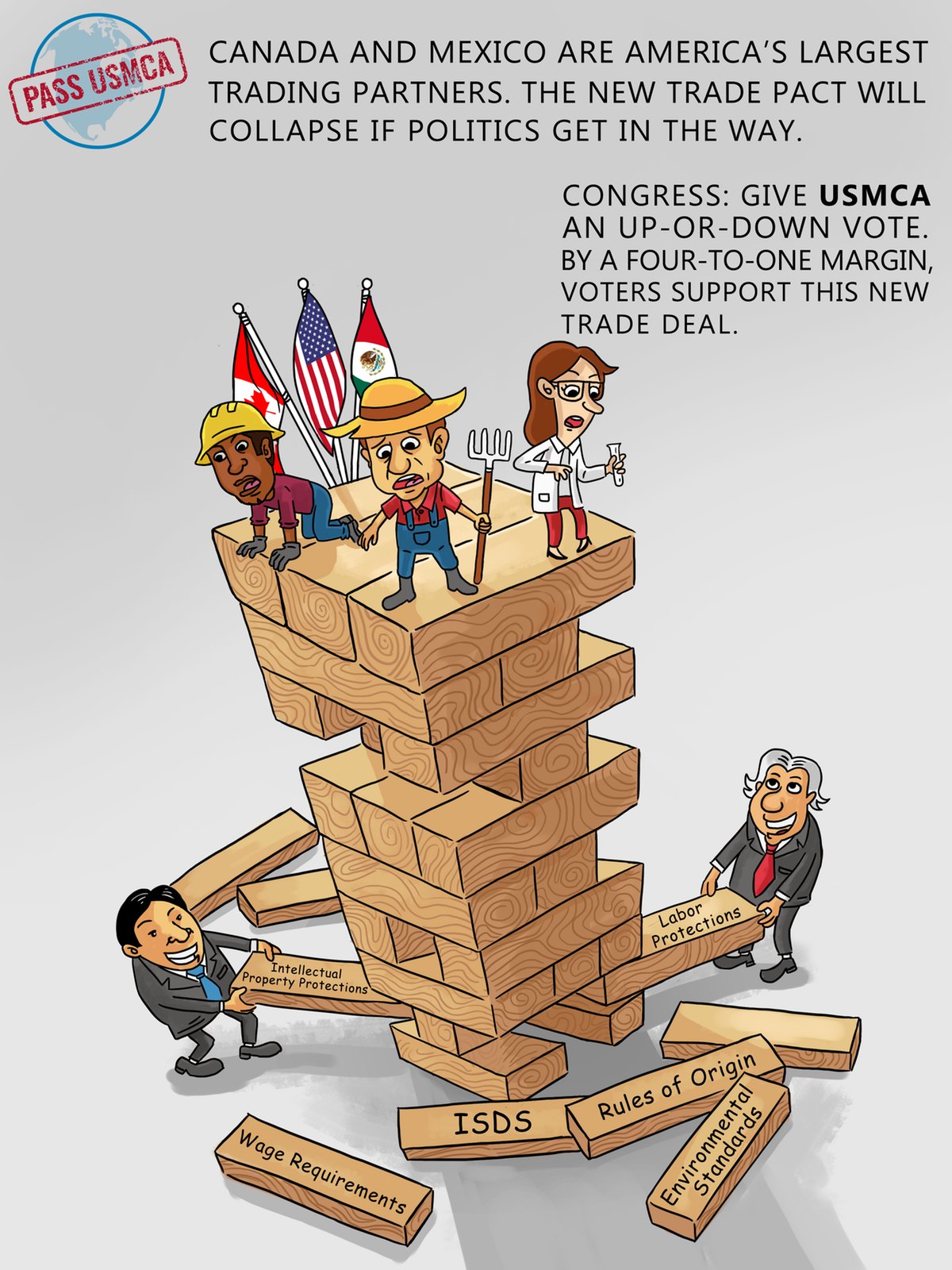 Edits to Jenga cartoon