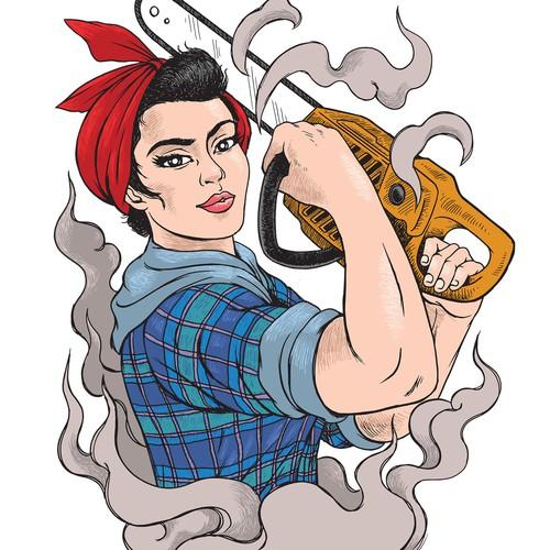 Rosie Riveter Lumberjack