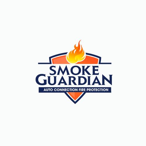 Smoke detector product logo