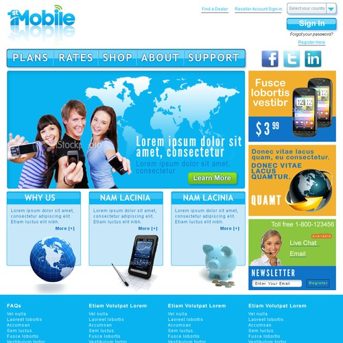 website design for 1st Mobile