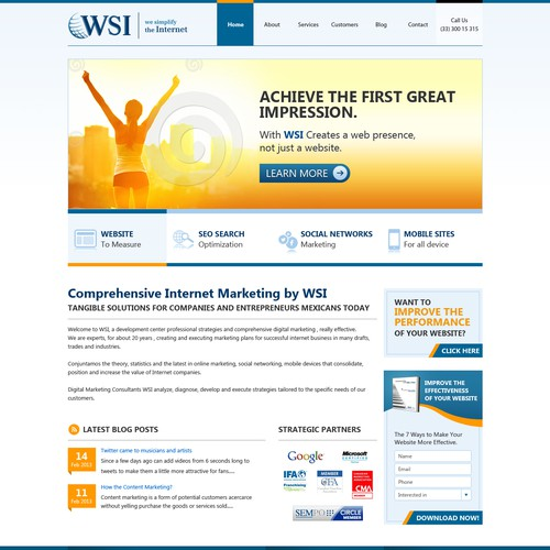 WSI We Simplify the internet needs a new website design
