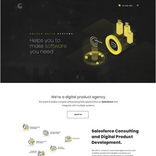 Webdesign for a B2B