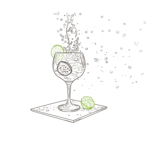 Unique drinks icons collection