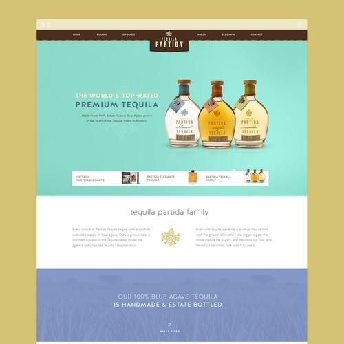 Teauila pardita website design