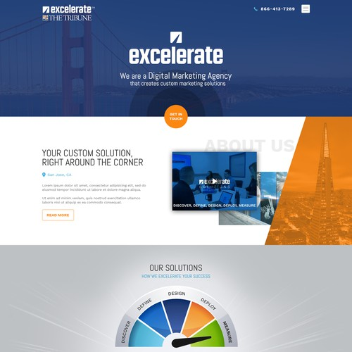 Local Landing Page for Marketing Agency
