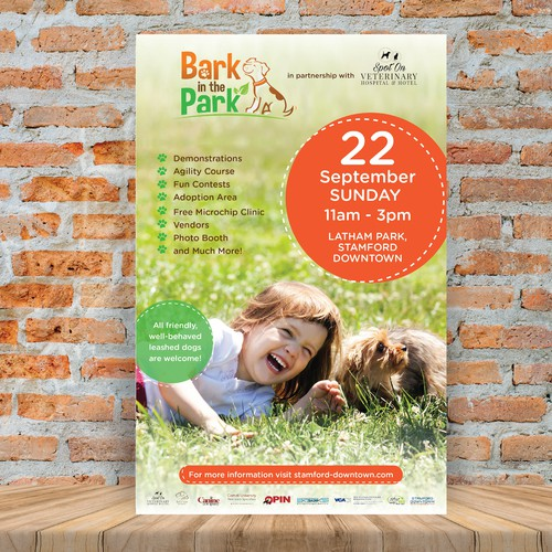 Flyer design for fun doggie day in the park