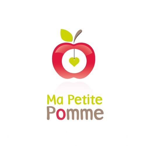 """Un logo pour """"Ma petite pomme"""" ! Un site marchand de produits respecteux pour bébé, enfants..."""