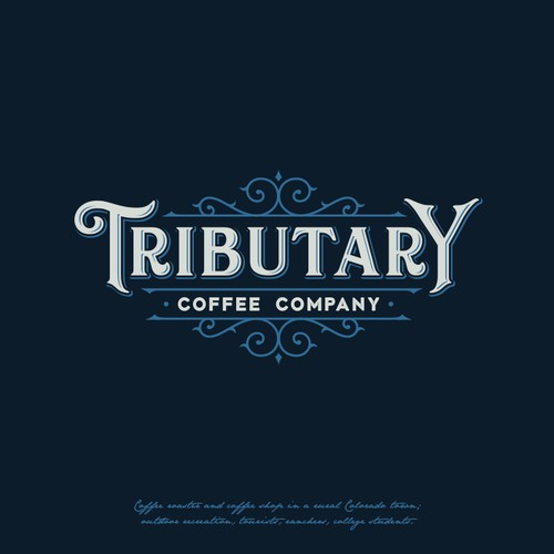 Logo design for Tributary, coffee company