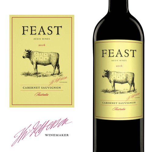 Feast Wine label