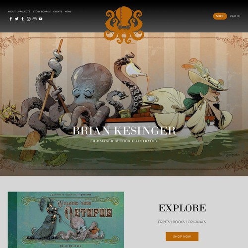 Disney Animator Whimsical Website