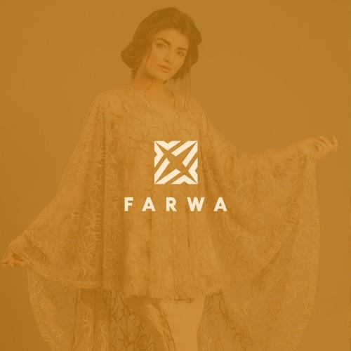 """Logo concept for """"FARWA"""" Cape dress"""