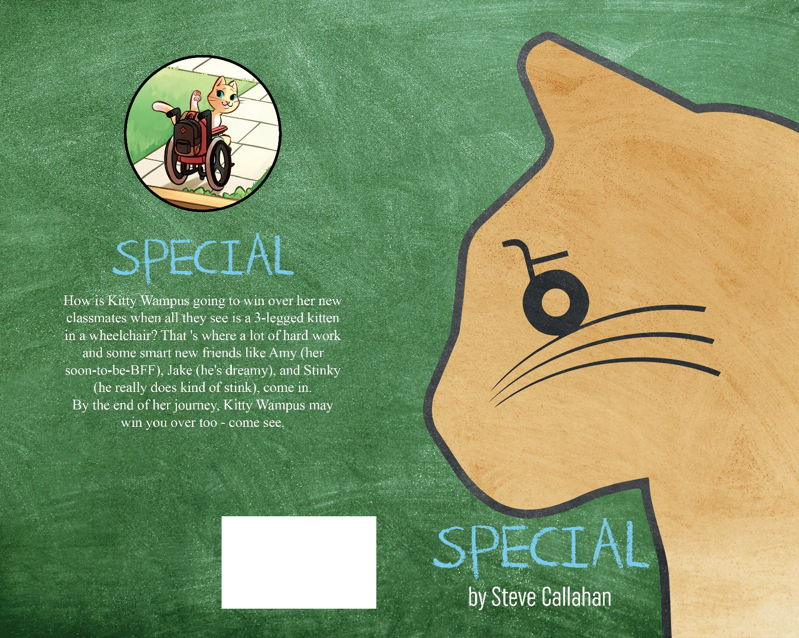 "Eye-catching book cover for a children's book titled ""Special"""