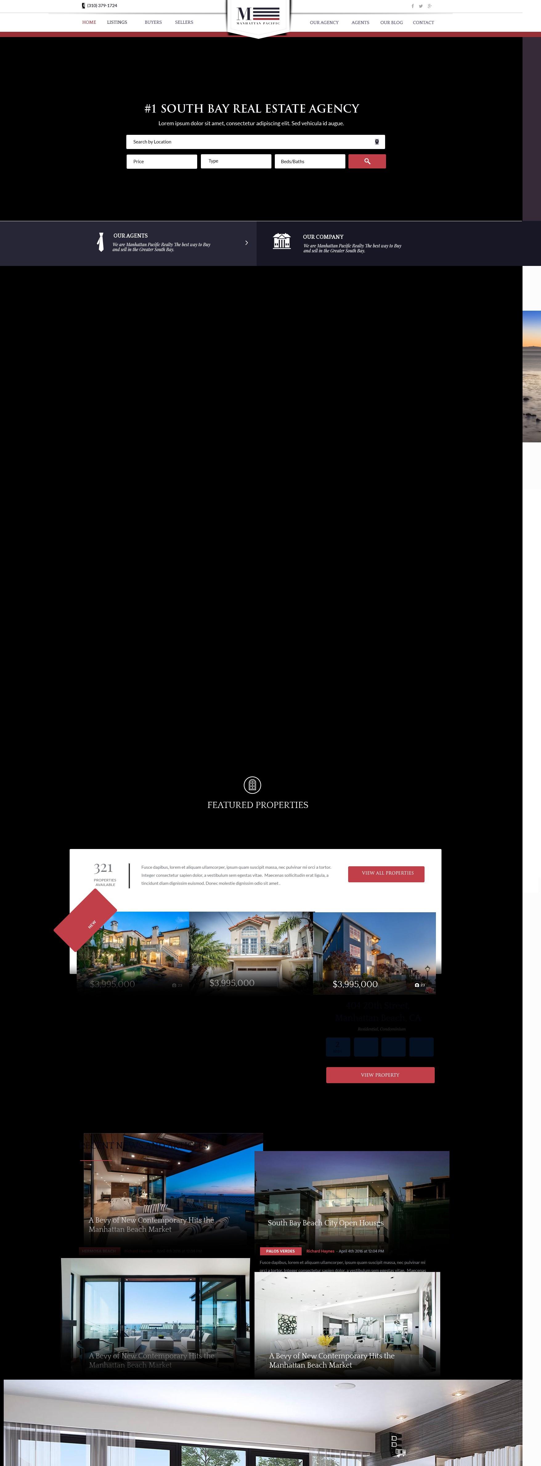 L.A. - Manhattan beach properties : website needed