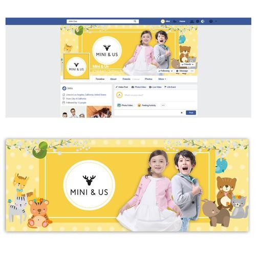 Facebook banner for children's Clothing Brand