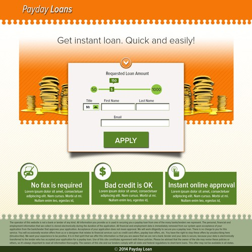 Payday Loans Template