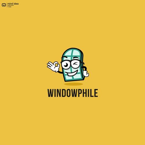 Mascot logo design for windowphile