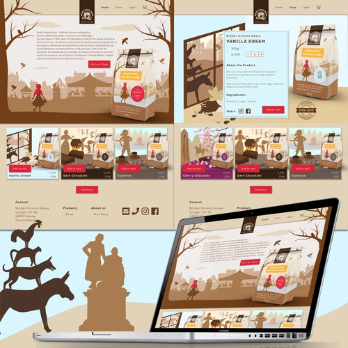 UI Design with custom illustrations