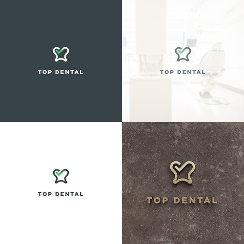 Geometric logo concept for a dental office