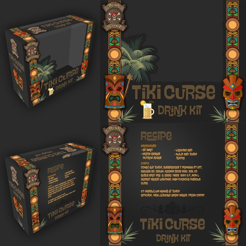 Package design for Tiki Cocktail