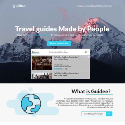 Travel Guide Landing Page