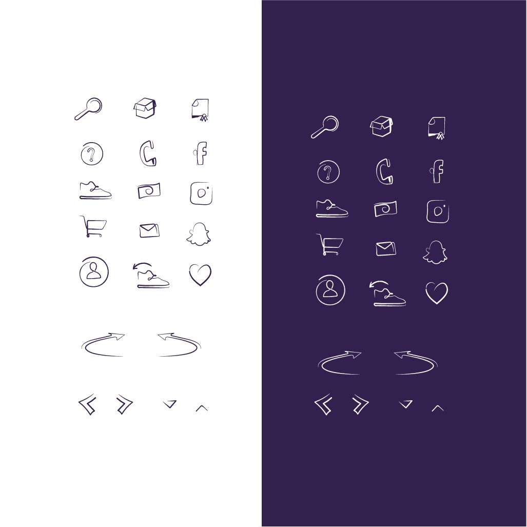 Design Buttons and Icon font for e-commerce website