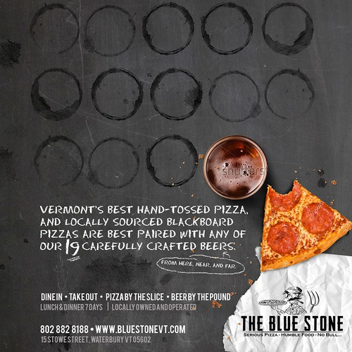 Concept Print Ad for Bluestone Pizza