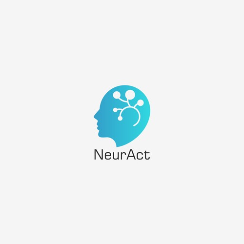 Brain logo design concept