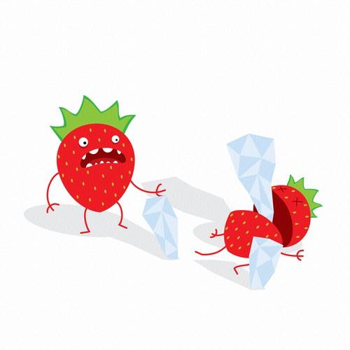 strawberries not having fun
