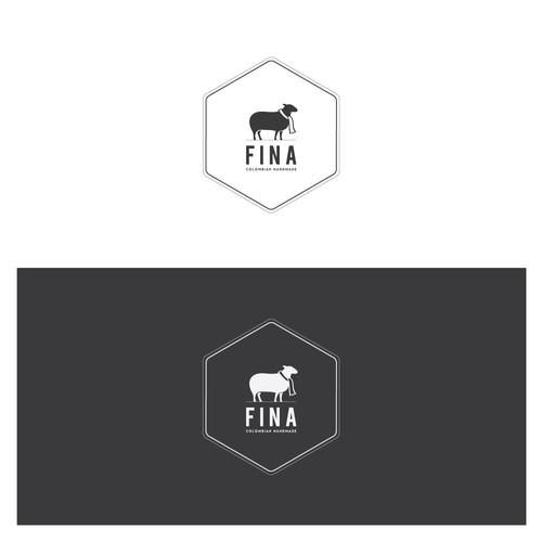 Modernes figuratives Logo für Schurwollenschals