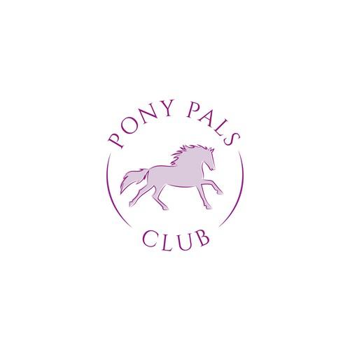 A cantering pony logo