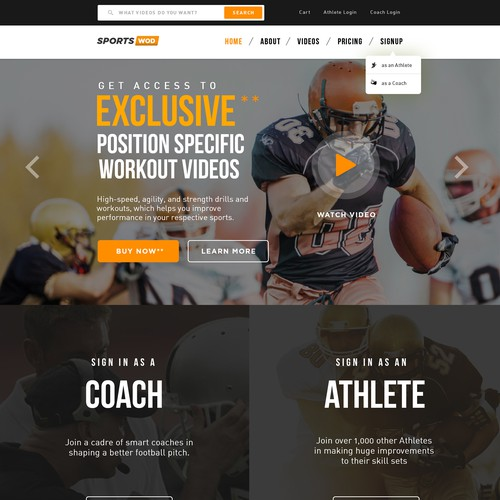 SportsWoD: Sports Video Training Website!