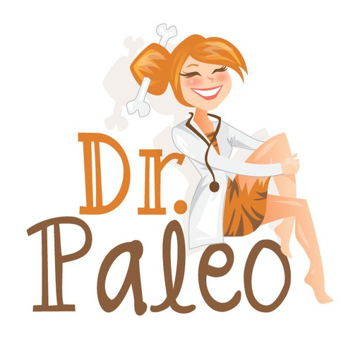 Create a Logo for 'Dr. Paleo' a website dedicated to sharing the best Paleo recipes