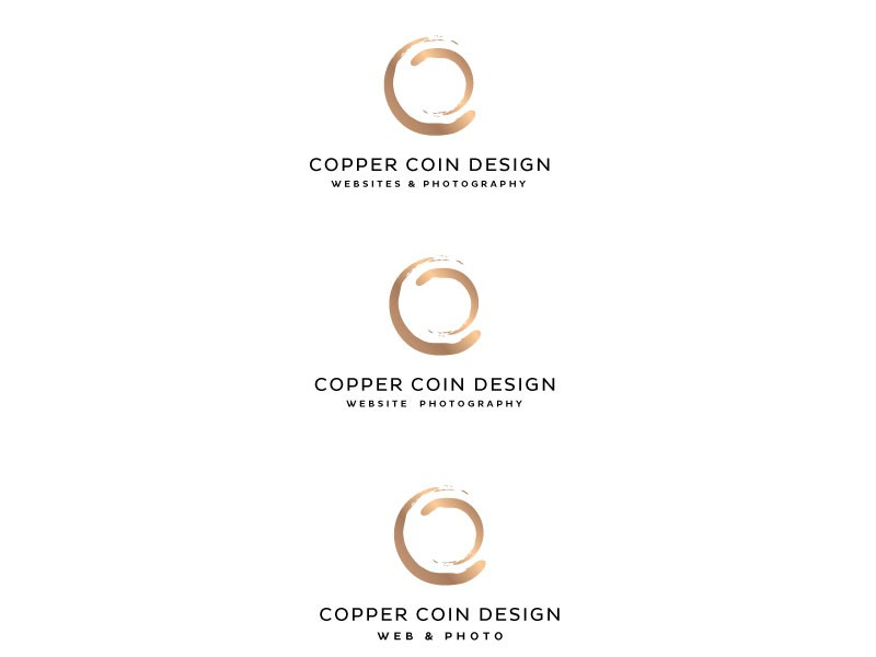 Design a clean and modern logo for a web and photography company