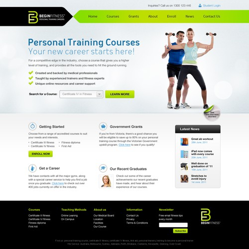 Modern and Clean look for Fitness Company
