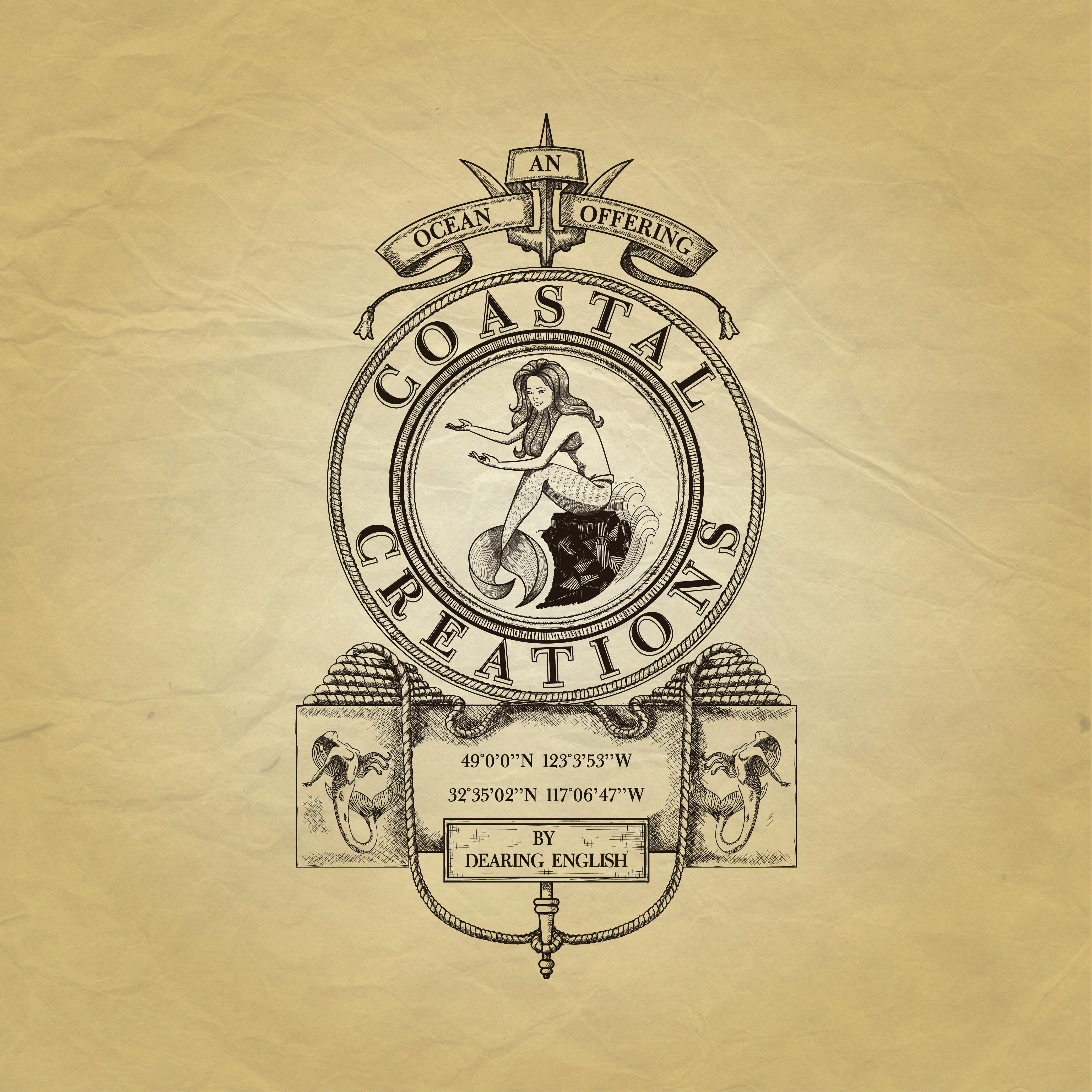 Create a Elegant, Classic and Victorian Ocean Logo with Detailed Sample Provided