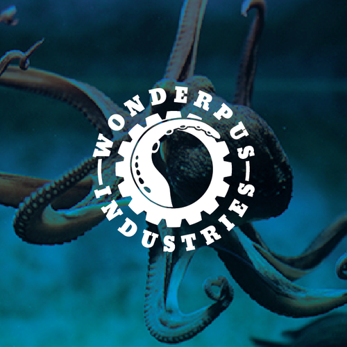 Combine an octopus and machinery for Wonderpus Industries' logo!