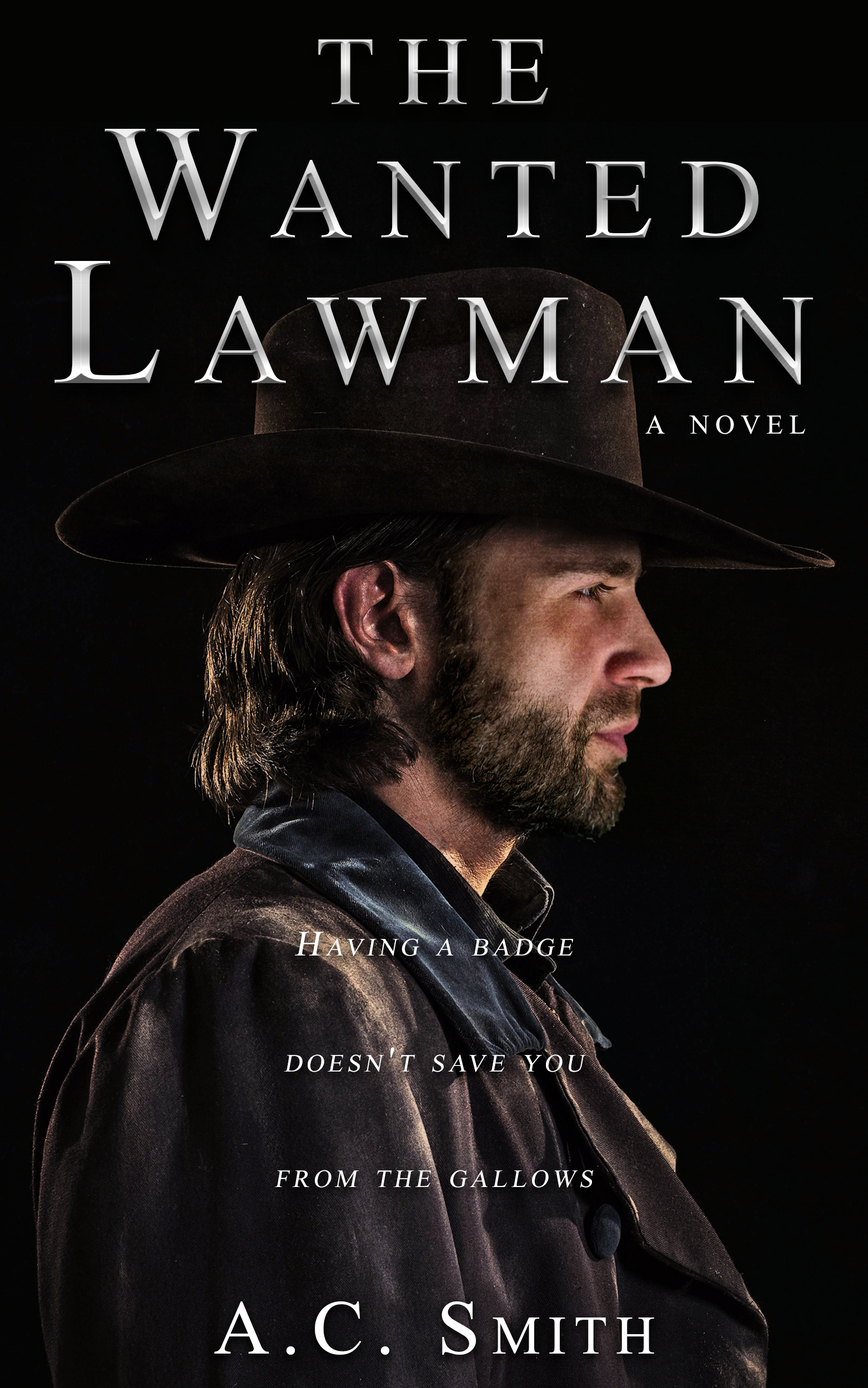 Need powerful book cover for a dark and gritty western