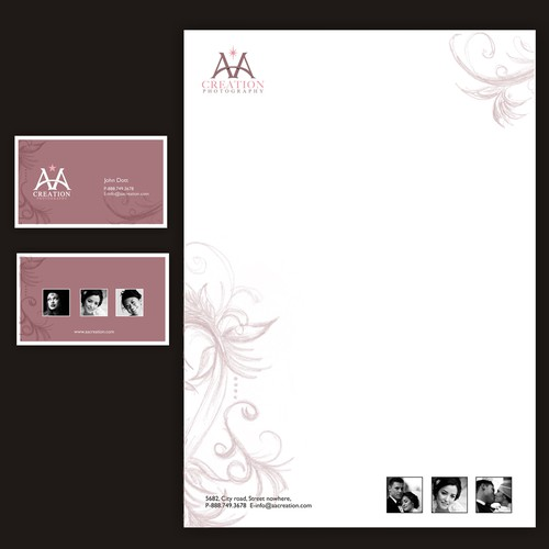 AAcreation Photography Business Cards, Stationary etc